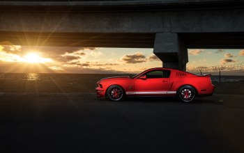 shelby,car,Muscle,Collection,side,Sunset,Red