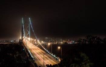 bridge,ca,lights,san francisco,francisco,bay bridge,california,light
