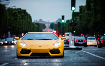 yellow,Lamborghini,paris
