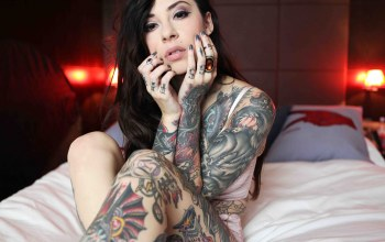 look,brunette,tattoos