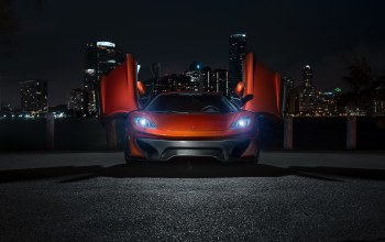 Mclaren mp4-vx,mp4-12c,supercar,макларен,ночь,vorsteiner