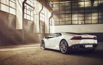 Lamborghini,rear,lp610-4,supercar,White
