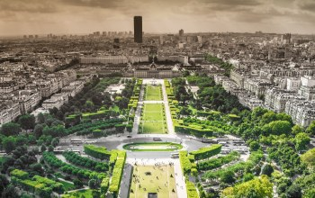 paris,trees,panoramic view city,park,buildings,france,skyline