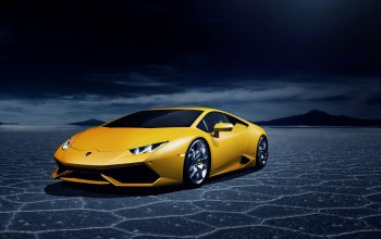 lb724,Lamborghini,lp 610-4,yellow,пустыня