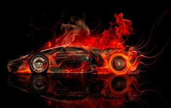 Tony kokhan,car,fire,Abstract,colors,concept,side,f80,orange,aerography