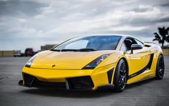 передок,supercar,yellow,Lamborghini,superleggera