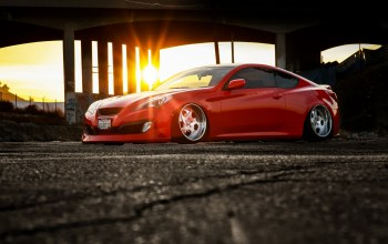 hq wallpaper,Hyundai genesis,stance,car,тюнинг,Red