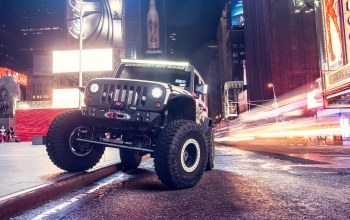 ночь,тюнинг,supercharged,внедорожник,Jeep wrangler,улица,car