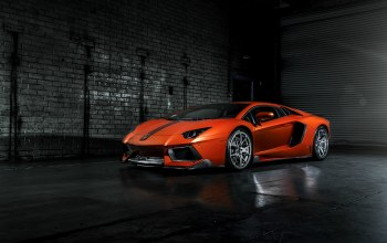 ламборджини,orange,left,vorsteiner,Lamborghini