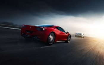 458,Red,italia,Road,norway,supercars,rear,White,r35