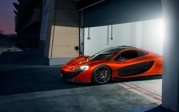 Race,beauty,orange,Track,nigth,ligth,Mclaren,supercar