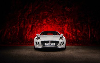 sport,White,Jaguar,f-type,Red,ligth,car
