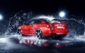 Red,ac-schnitzer,german,rear,Bmw,car,water