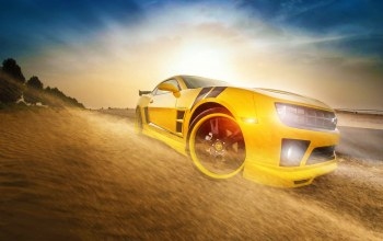 camaro,yellow,car,Transformers,bumblebee,chevrolet