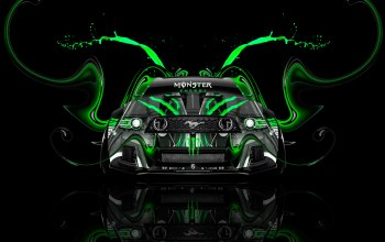 Tony kokhan,Muscle,car,aerography,Monster energy