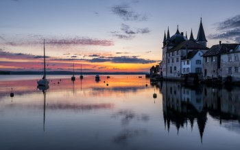 thurgau,Switzerland,A classic spot at lake constance. the turmhof castle in steckborn
