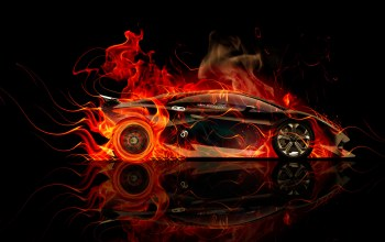 Abstract,Tony kokhan,side,Lamborghini,car,orange,el tony cars,fire