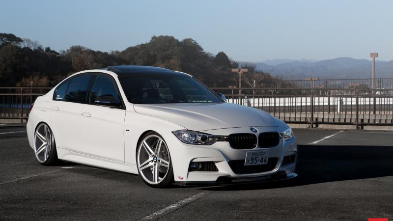 f30,White,tuning,Bmw,Vossen wheels,car,Vossen,3 series