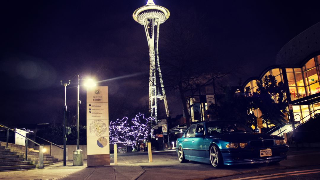 seattle,750il,Bmw,фары,ночь