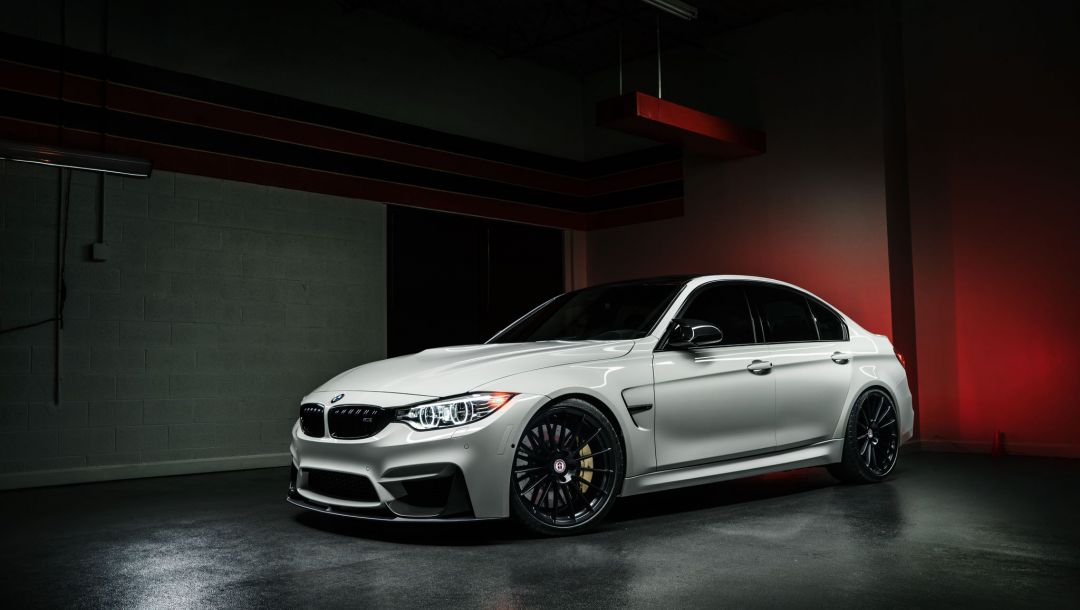 M3,White,hre,matte,f80,Bmw,dark,wheels