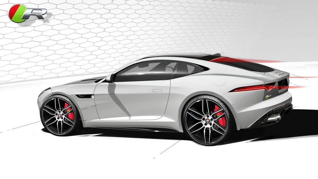 рисунок,car,r coupe,Jaguar,f-type