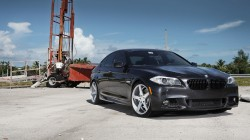 5 series,Bmw,f10,black,Vossen