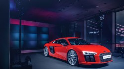 audi,Red,2015,wheels,r8,Front,new,supercar