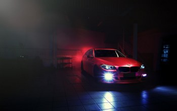 Bmw,5 series,f10,Red,блик