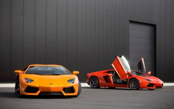 Red,авентадор,Lamborghini,orange