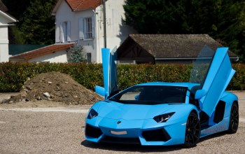Exotic,blue,paris,france,Lamborghini,supercar