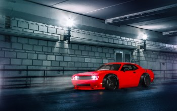 dodge,body,street,car,challenger,wide,stance,Red