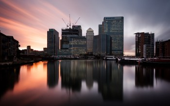 london,Twilight,canary wharf,Sunset,uk,england