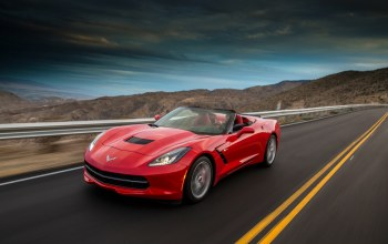 corvette,convertible,stingray,Red,chevrolet,car,Speed