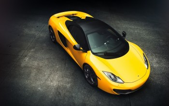 mp4-12c,view,supercar,yellow,Mclaren,top