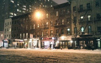 new york city,midtown at night,Nyc,manhattan,ny,snow,janus,new york