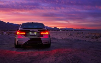 clouds,light,sky,rear,and,White,Bmw,M3,Sunset