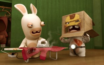 кролик,Rabbids,утюг,Raving rabbids