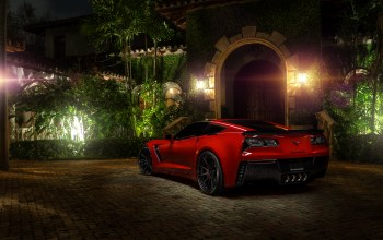 Red,Chevrolet corvette,c7,hq wallpaper,z06