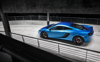 синий,blue,supercar,mp4-12c,Mclaren,парковка,макларен