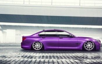7 series,car,low,Bmw,side,wheels,Purple,german,Color