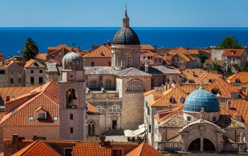 croatia,assumption cathedral,church of saint blaise,dubrovnik cathedral,Luza square,Dubrovnik