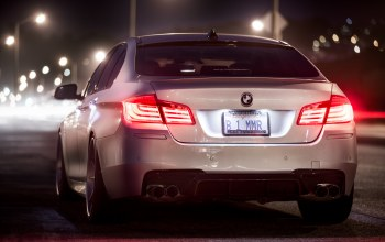 ночь,rear,White,Bmw,5 series,f10,b1mmr
