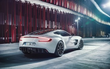 supercar,rear,ligth,wheels,one-77,White