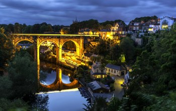 england,нерсборо,north yorkshire,river nidd,knaresborough,Knaresborough viaduct