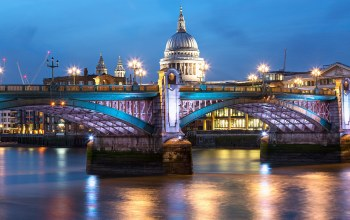 Blackfriars bridge,london,st. pauls cathedral,собор святого павла