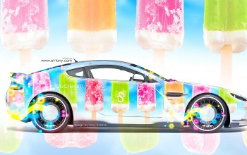 side,food,car,multicolors,aerography,Tony kokhan