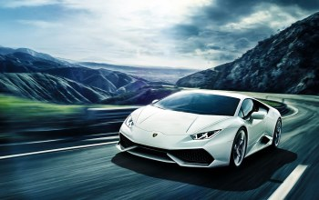 lp640-4,mountain,Lamborghini,White,supercar,Road