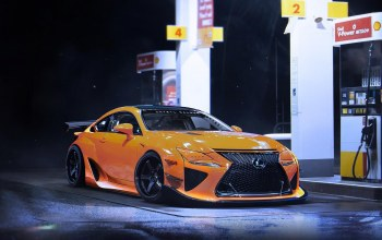 rcf-a,lexus,car,by khyzyl saleem,sport,gas station,future,yellow