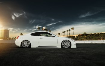 low,White,stance,g37,car