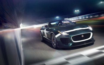 в движении,f-type,Jaguar,project 7,car